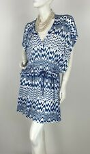 Missoni New w Tags One Sze S M L Blue White Stretch Kaftan Dress Top Runway Auth