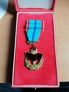 Czechoslovakia SILVER CSSR Communist Order of Red Labor Banner ! with case