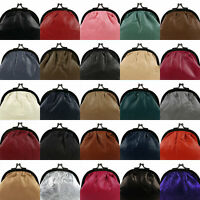 Ladies Compact Soft Leather Clasp Coin Purse