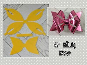 "🎀  4"" Filly Bow Plastic Templates  🎀"