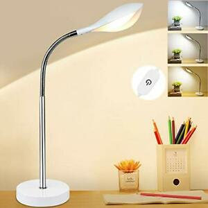LED Desk Lamp, 5W Dimmable Table Lamp,Touch Control, Eye-Caring Flexible