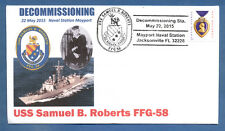 GREYTCOVERS NAVAL COVER USS SAMUEL B. ROBERTS FFG-58 DECOMMISSIONING