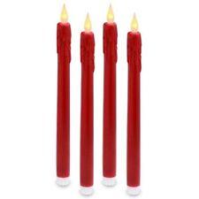 Velas decorativas de plástico de color principal rojo para el hogar