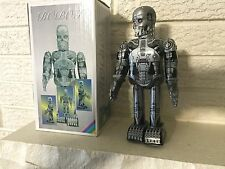 Walking Cyborg Futuristic Steel Skeleton  Robot Windup Clockwork Mechanism