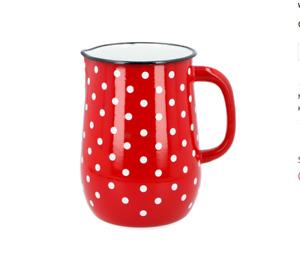 Emaille Kaffeekanne Milchkanne  Krug 2,5 L 11,5 cm