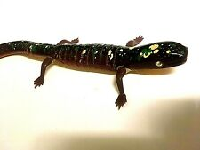 """Wooden Spotted Lizard with movable joints 13"""" Vgc Free Shipping"""