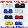 AN4-4 AN6 -6 AN8 -8 AN10 Hose Dual Separator Clamp Fitting Adapter Line Bracket
