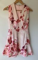 RODEO SHOW amazing Peony Trumpet Fluted Floral Dress Size 6 BNWT $279