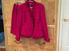 Escada Raspberry Suit Size 38