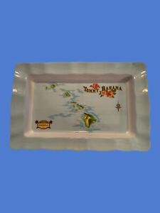 Tommy Bahama Large Serving Tray 221/2x141/4, Paradise Hawaii. Melamine