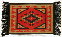 """Woven Placemat Table Mat Native American / Southwestern Fringed 13x19"""" design #3"""