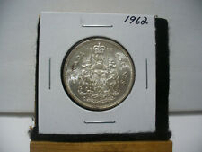 1962  CANADA  SILVER  HALF  DOLLAR  50 CENT PIECE  62    GOOD GRADE