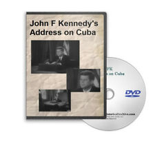 John F Kennedy's Cuban Missile Crisis Embargo Cuba Speech JFK on DVD -  C575