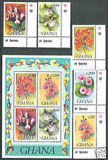 Ghana MNH S/Sheet & stamps 1993 Flowers XF!!