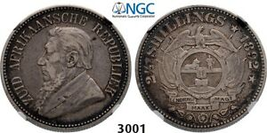 PegasusAuctions_com: 3001. South Africa, ZAR, 2 1/2 Shillings 1892, NGC VF30