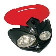 MOTORCYCLE FALCON UNIVERSAL FAIRING HEADLIGHT STREETFIGHTER OFF ROAD BLACK/RED