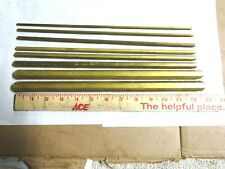 New Listing8 Pieces 360 Hex Brass Rods 53231615641451638 916amp 58 12 Long