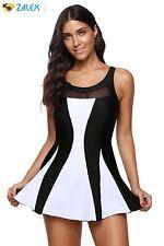 One Piece Women Swimdress Tummy Control Swim Dress Swimwear Slimming Skirt XL