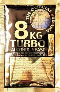 Turbohefe 8 kg Prestige Vodka Alkohol Gärhefe Hefe gären 18% - 20% ORIGINAL