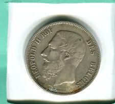 BELGIQUE 5 Francs Léopold II 1869