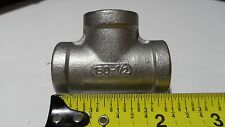 "1/2"" SS Tee Pipe Fitting Threaded NPT 304 Stainless Steel 300 PSI WOG 150 Steam"