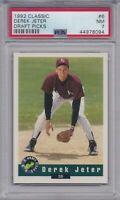 DEREK JETER ROOKIE 1992 Classic Draft Picks #6 Graded PSA 7 NM NY Yankees HOF