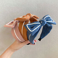 Soft Wide Side Headband Bow Knot Fashion Gift Hair Accessories Cross Tie Holiday