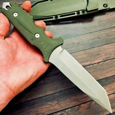 Tanto Knife Fixed Blade Hunting Tactical Combat Military Jungle Titanium Plated