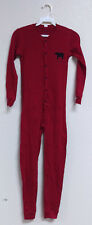 Youth size 8 Union Suit Red with Bear on front & Bear Bum on back Flap, CUTE!!