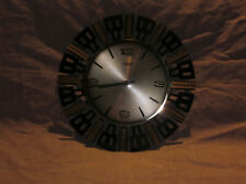 alte Wanduhr 50er 60er Jahre ANKER electric Metall wall clock 50s60s mid century