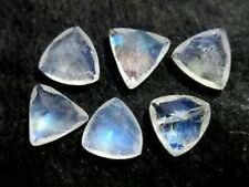 Lovely Lot Natural Rainbow Moonstone 8X8 mm Trillion Faceted Cut Loose Gemstone