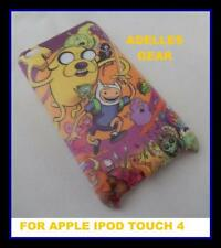 FOR APPLE IPOD TOUCH 4 -ADVENTURE TIME- HARD BACK CASE COVER-SCREEN PRO & CLOTH