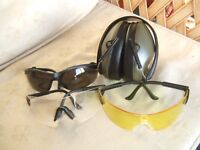 Clay Pigeon Shooting Eye & Hearing Protection Safety Glasses & Ear Defenders