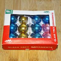 Vintage 12 Miniature Feather Tree Mercury Glass Christmas Ornaments Franke Box