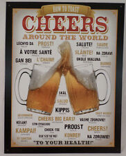 Beers Drinks Cheers Around The World Funny Sign Wall Art Bar Related #1829