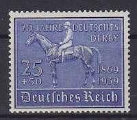 DR Mi Nr. 698 ** TOP, 70 Jahre Derby Deutsches Reich 1939, postfrisch, MNH