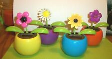 Set of 4 Solar Powered Dancing Toy Toys Flowers Variety Colorful For Spring New!