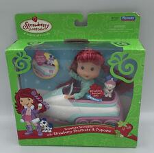Strawberry Shortcake Scented Doll & Pupcake Pet w/ Snowflake Skimobile Playmates