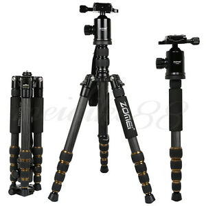 Z699C Light Weight Carbon Fiber Tripod Monopod&Ball Head Stand For Nikon Camera