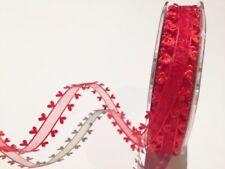 """BORDE De Alambre 1.5/"""" cinta de Navidad artesanías Con Ribete De Oro Crema por Metro arcos"""