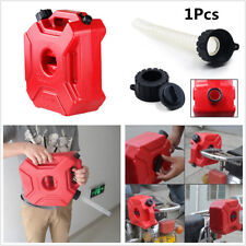 Plastic 5L Jerry Can Car Motorcycle Tool Gasoline Fuel Tank w/ Lock+Mounting Kit