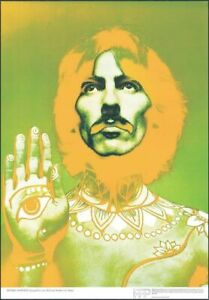 ORIGINAL AUTHENTIC BEATLES POSTER GEORGE HARRISON BY RICHARD AVEDON DONE IN 1967