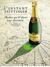 PUBLICITE ADVERTISING 065  1997  TAITTINGER  champagne l'INSTANT