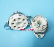 10PCS Ceramic 8pin Tube Socket for 6336 6550 7199 KT88 EL34 GZ34 5U4G 274B 348A