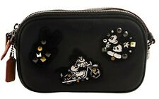 NWT COACH DISNEY Mickey Mouse Crossbody Pouch Patch Cute Clutch F59532 Black