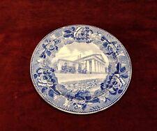 Antique Wedgwood Etruria England Blue Plate Arlington Home of Martha Custis