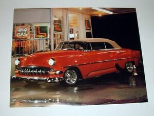 RED HOT ROD CHEVY PHOTO POSTER - ST. CHATEAUX GALLERIES - 16X20 - 1988