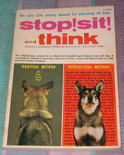 DOG  BOOK STOP! SIT! AND THINK THE LITTLEST HOBO CHARLES EISENMANN SIGNED