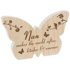 Nan Gift - Butterfly wooden plaque with sentiment 60591