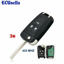 3 Button Remote Key Fob 433MHz ID46 Chip for for Chevrolet Cruze 2010-2015 HU100